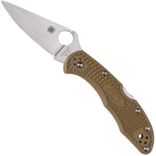 Spyderco Knives Spyderco Delica 4 Lightweight, Brown, SP-C11FPBN