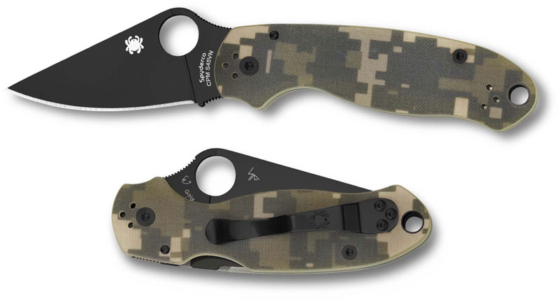 Spyderco C223gpcmobk Para 3 Folding Knife Compression Lock