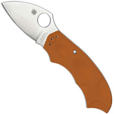 Spyderco C64JPBORE Meerkat Knife Sprint Run, HAP40 SUS410 Blade, Burnt Orange FRN Handle with Phantom Lock