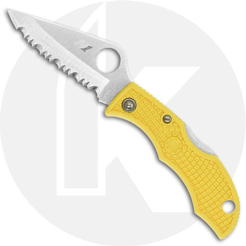 Spyderco Knives Spyderco Ladybug 3 Salt Knife, Serrated, SP-LYLS3