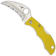 Spyderco Knives Spyderco Ladybug3 Hawkbill Salt Knife, SP-LYLS3HB