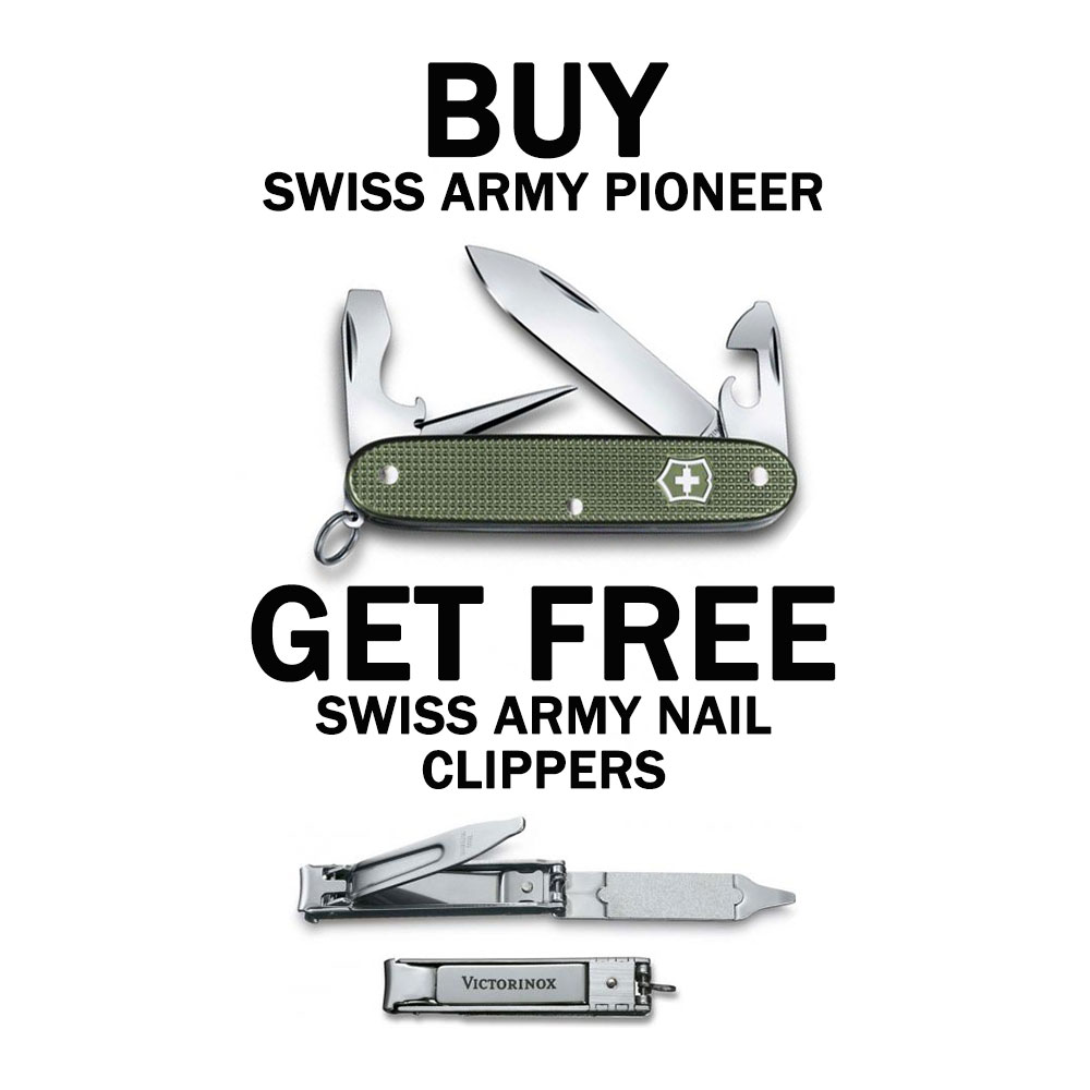 BUY Victorinox Pioneer Knife Limited Edition GET FREE Victorinox Nail  Clipper