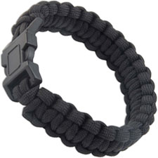 Paracord Survival Bracelet, Black, UC-2763