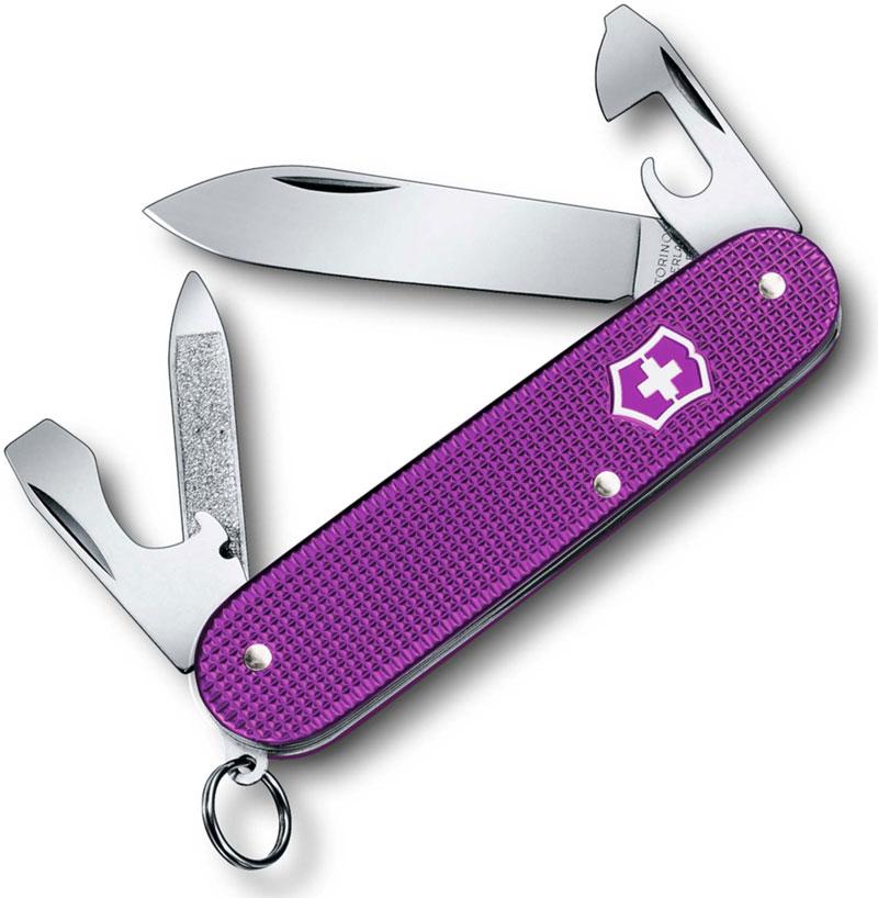 Victorinox Cadet Knife, Limited Orchid Violet Alox, VN-2601L16