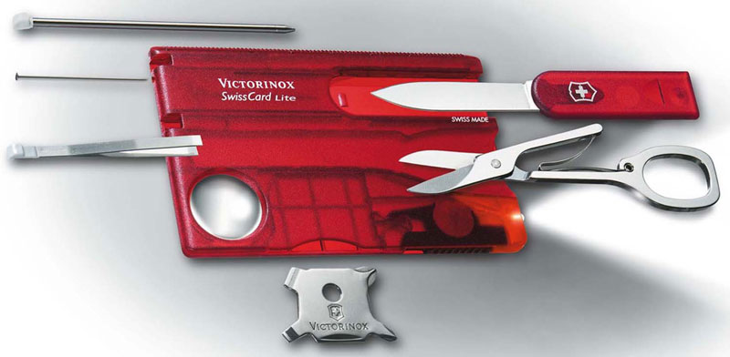 Victorinox SwissCard Lite, Ruby, VN-53331