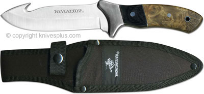 Winchester Knives Winchester Gut Hook Fixed Blade Burl