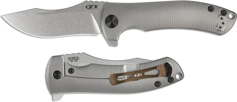 Zero Tolerance 0920 Knife Les George Titanium Handle