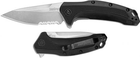 Kershaw Link Knife, Part Serrated, KE-1776ST