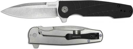 Kershaw 3460 Westin Knife, Les George, assisted opening 3.5 inch stonewash spear point blade, 4.3 inch closed