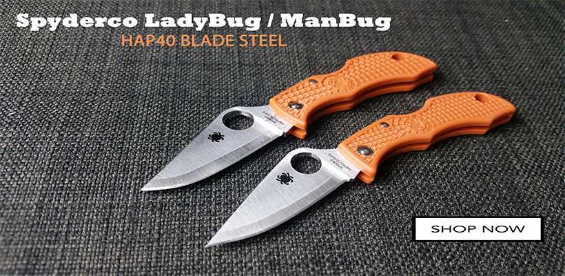 Spyderco HAP40 LadyBug ManBug Sprint Runs