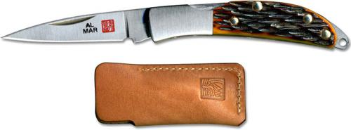 Al Mar Osprey Classic Knife 1001HJB - Honey Jigged Bone - DISCONTINUED ITEM - OLD NEW STOCK - SERIAL NUMBERED - MADE IN JAPAN