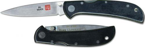 Al Mar Hawk Ultralight Knife 1002UBK1 - Plain Edge High Polish - DISCONTINUED ITEM - OLD NEW STOCK - SERIAL NUMBERED - MADE IN JAPAN