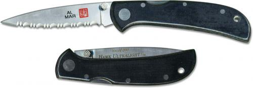 Al Mar Hawk Ultralight Knife 1002UBK3 - Serrated - DISCONTINUED ITEM - OLD NEW STOCK - SERIAL NUMBERED - MADE IN JAPAN
