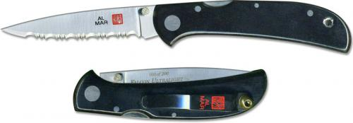 Al Mar Falcon Ultralight Knife 1003UBK3 - Serrated - DISCONTINUED ITEM - OLD NEW STOCK - SERIAL NUMBERED - MADE IN JAPAN