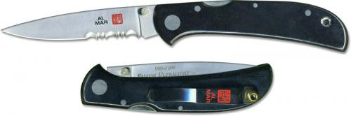 Al Mar Falcon Ultralight Knife 1003UBK4 - Part Serrated - DISCONTINUED ITEM - OLD NEW STOCK - SERIAL NUMBERED - MADE IN JAPAN