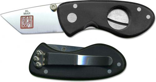 Al Mar Havana Clipper Hcbm1 Cigar Cutter Black Micarta