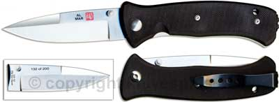 Al Mar Knives: Al Mar Mini SERE 2000 Knife, Serial Numbered, AL-MS2KSN