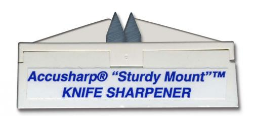 AccuSharp Sharpener: AccuSharp SturdyMount Knife Sharpener, White, AS-4