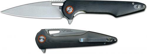Artisan Archaeo Knife 1821P-BKC Stonewash D2 Drop Point Blade Black G10 Liner Lock Flipper Folder