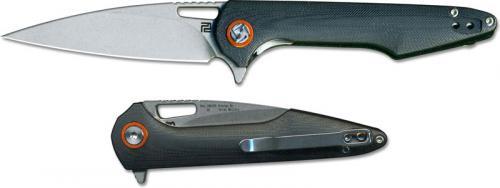 Artisan Archaeo Knife 1821PS-BKC Small Stonewash D2 Drop Point Blade Black G10 Liner Lock Flipper Folder