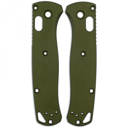 AWT Custom Aluminum Scales for Benchmade Bugout Knife - OD Green - USA Made