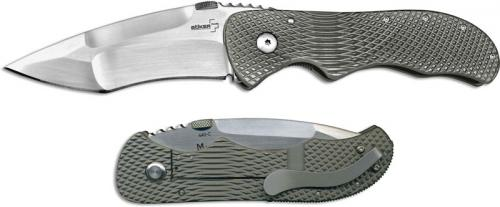 Boker Plus Manaro Bullseye Grip 01BO145 Sal Manaro Modified Drop Point Milled Titanium Frame Lock Knife
