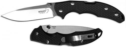 Boker Plus USA Black Satin Knife, BK-01BO370