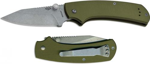 Boker Plus CLB XS 01BO538 Chad Los Banos EDC Clip Point Olive Green G10 Non Locking Folder