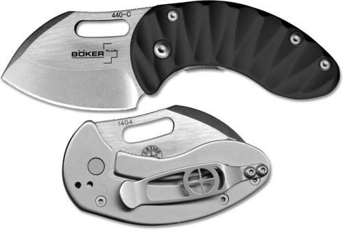 Boker Plus Nano Black 01BO600 David Curtiss EDC Knife Sheepfoot Black Zytel Frame Lock