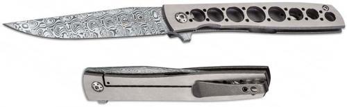 Boker Plus 01BO739DAM Damasteel Urban Trapper Brad Zinker EDC Titanium Frame Lock Flipper Knife