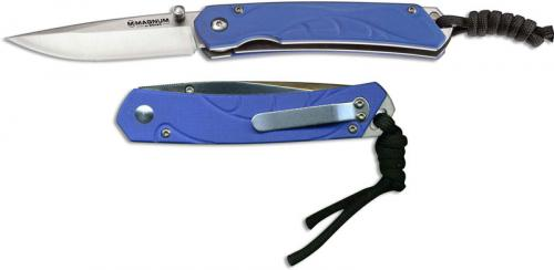 Boker Magnum 01SC415 Blue Sierra Knife Compact EDC Drop Point Blue G10 Linerlock Folder