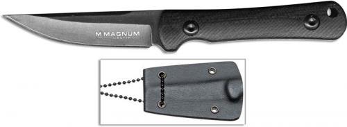 Boker Magnum 02RY866 Lil Friend LG Dark Stonewash Fixed Blade Black G10 Neck Knife