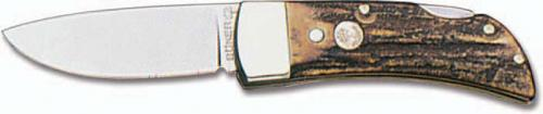 Boker Knives: Boker Lock Blade Gent's Knife, Stag, BK-1006