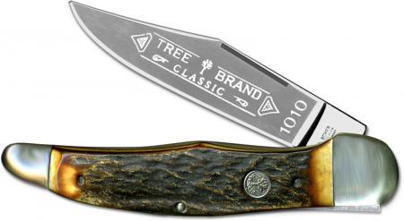 Boker Folding Hunter Knife, Stag, BK-1010HH