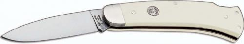 Boker Fellow 111035 Knife Drop Point White Elforyn Lockback Folder Made in Germany