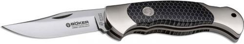 Boker Scout 112501 Knife Clip Point Honeycomb Black Lockback Pocket Knife Made in Germany