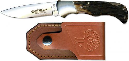 Boker Knives: Boker Stag Folding Hunter Knife, BK-135HH