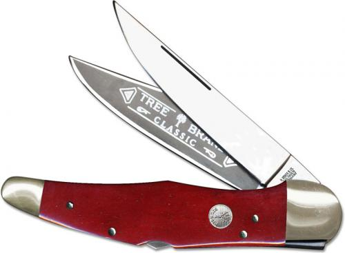 Boker Double Lock Folding Hunter 112021SRB Limited Smooth Red Bone Handle German Made