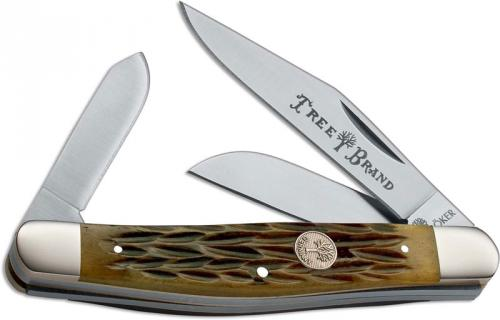 Boker Stockman, Jigged Brown Bone, BK-726