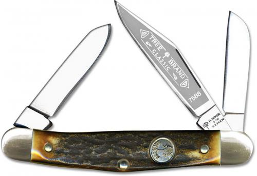 Boker Knives: Boker Medium Stockman Knife, Stag Handle, BK-7588HH