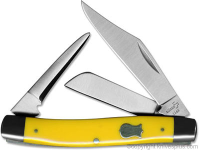 Boker Stockman Knife with Punch, Yellow, BK-BO3380Y