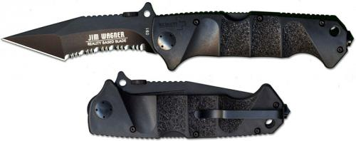Boker Knives: Boker Jim Wagner Reality Based Blade, Part Serrated, BK-BO51