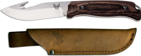 Benchmade 15003-2 Saddle Mountain Gut Hook Skinner, Wood, BM-150032