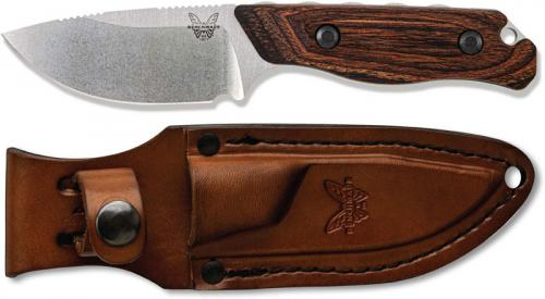Benchmade Hidden Canyon Hunter 15017 - CPM S30V Drop Point Fixed Blade - Stabilized Wood Handle - Hunting Knife - USA Made