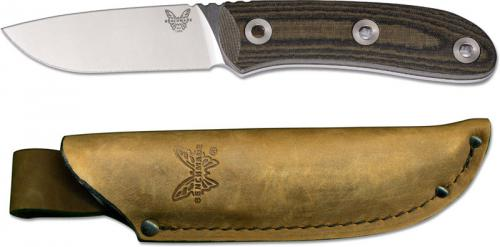 Benchmade 15400 Pardue Hunter Mel Pardue Drop Point Fixed Blade Hunting Knife Micarta Handle