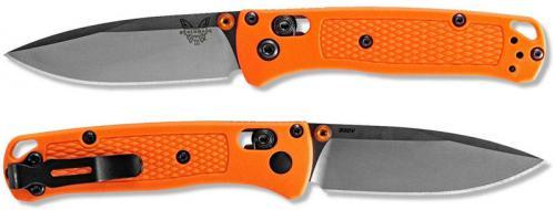 Benchmade Mini Bugout 533 Knife - Satin S30V Drop Point - Orange Grivory - AXIS Lock Folder - USA Made