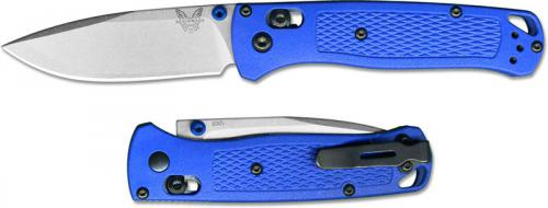 Benchmade Bugout 535 EDC Knife Drop Point Blue Grivory AXIS Lock Folder USA Made