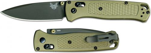 Benchmade Bugout 535GRY-1 Knife Gray Nitride Drop Point Ranger Green Grivory AXIS Lock Folder USA Made