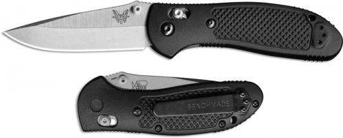 Benchmade 551 Griptilian S30v Edc Satin Drop Point Black
