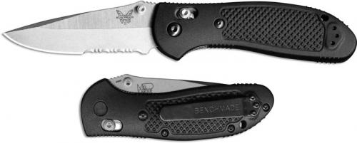 Benchmade 551S Griptilian S30V EDC Part Serrated Satin Drop Point Black GFN AXIS Lock Folder USA Made